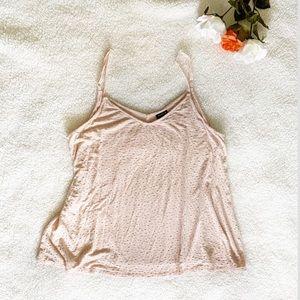 Torrid Blush Pink and Gold polka dot cami tank top
